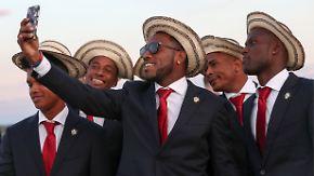 Drehen den Swag auf: die Fußball-Nationalspieler aus Panama.