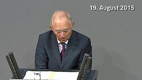 """Schäuble zur Griechenland-Rettung: """"IWF-Beteiligung ist unabdingbar"""""""