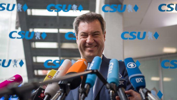 Markus Söder kämpft um den Erhalt der absoluten Mehrheit für die CSU.