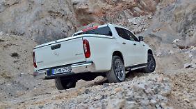 Mit dem V6-Diesel in der X-Klasse lassen sich locker auch unwirtliche Steigungen überlaufen.