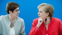 Im Zwist mit der Schwesterpartei: CDU-Spitze steht hinter Merkels Asylpolitik