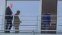 Vier-Augen-Treffen im Kanzleramt: Merkel und Seehofer sprechen sich aus