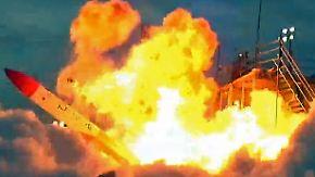 Kaum zu glauben, aber wahr: Japanischer Raketentest geht spektakulär schief