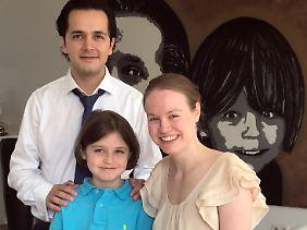 Laurent Simons mit seinen Eltern.