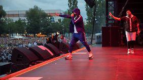 Eminem gab viele seiner Hits zum Besten.