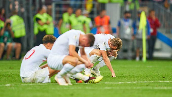 Tief betrübt: Die Engländer dürfen nur um Platz drei spielen.