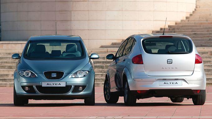 Optisch kommt der Seat Altea deutlich schicker daher als ein VW Touran.
