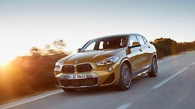 Knapp acht Zentimeter kürzer ist der X2 gegenüber dem BMW X1.