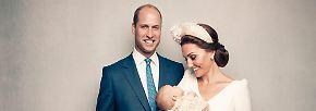 ... zeigt sich das dritte der Kinder von Prinz William und Herzogin Kate von seiner besten Seite, während die kleine Charlotte ein paar Faxen machte.