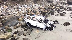 Nach sieben Tagen gerettet: Autofahrerin überlebt Sturz von 70-Meter-Klippe