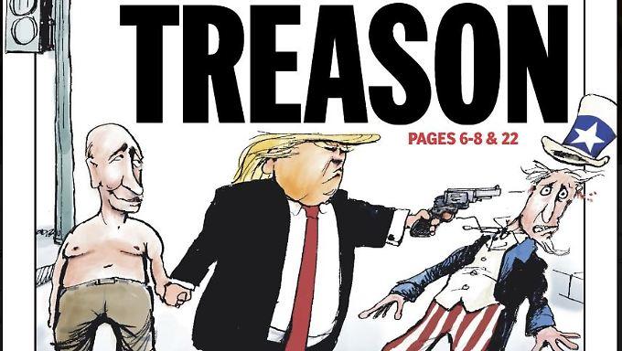 """Die Titelseite der """"Daily News"""""""