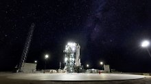 """Die Rakete des US-Unternehmens """"Blue Origin"""" startete in TExas."""