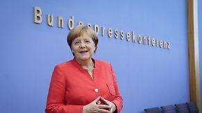 Von Regierungsstil über Trump bis Diesel: Merkel stellt sich Journalistenfragen