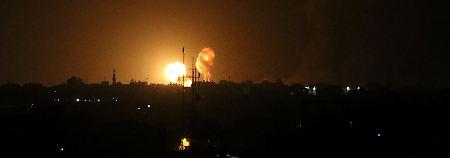 Der Feuerpause gingen heftige israelische Luftangriffe voraus.