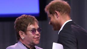 Neue Initiative mit Prinz Harry: Elton John prangert Stigmatisierung von Aids-Kranken an