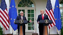 """Politik wie auf dem Schulhof: Trump entdeckt seine """"Liebe"""" zur EU"""