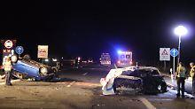 Horrorunfall auf der Autobahn: Zwei Menschen verbrennen auf der A3