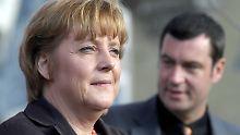 Ein gemeinsamer Auftritt geplant: Merkel trifft Söder im Wahlkampf