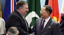 Außenministertreffen in Singapur: Trump lässt Brief an Kim überbringen