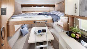 Hobby Deluxe 515 UHL bietet auch ein extra Kinderzimmer.