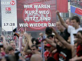 Nach vier Jahren in Liga zwei kicken die Nürnberger wieder erstklassig.