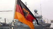 Schnellboot im Marinestützpunkt Wilhelmshaven.