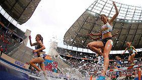 Saisonbestzeit im EM-Halbfinale: Gesa Felicitas Krause kommt rechtzeitig in Hürdenschwung.