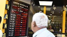 Schlechte Stimmung an der Instanbuler Börse.