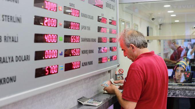 Wechselstube in Ankara.