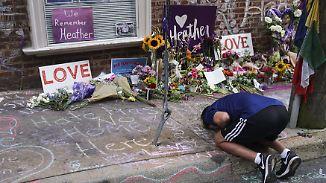 Ein Jahr nach Gewalt bei rechter Demo: Charlottesville-Nationalisten ziehen vor Weißes Haus