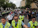 Nur wenige Rechtsextremisten marschierten durch Washington.