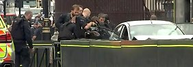 Anschlagsversuch in London: Auto rammt Radfahrer vor dem Parlament