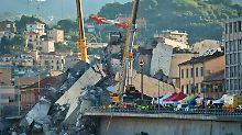 Brückeneinsturz in Genua: Italiens Retter hoffen auf weitere Überlebende