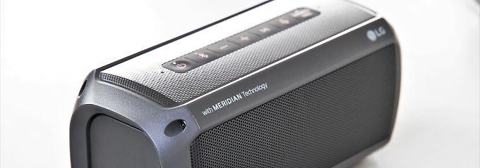 Wasserdichte Bluetooth-Box: LG PK3 macht draußen große Töne