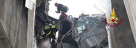Rettungskräfte in Genua unter Zeitdruck: Angehörige bangen nach Brückeneinsturz um Vermisste