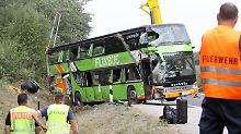 Warum kam Bus von A19 ab?: Experten untersuchen Flixbus-Wrack
