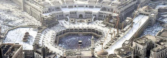 Zwei Millionen Pilger: Muslimische Wallfahrt Hadsch hat begonnen