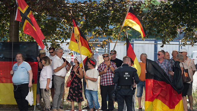 Chancellor Merkel receives participants in a demonstration of the Islam-hostile movement Pegida