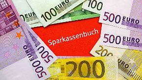 Verluste wegen Nullzinspolitik: Vermögen deutscher Sparer schrumpft