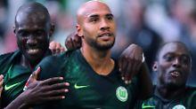 Erstes Tor für den VfL Wolfsburg: Innenverteidiger Brooks.