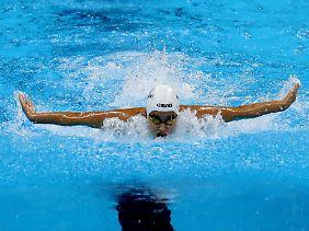 Yusra Mardini bei den olympischen Spielen in Rio.