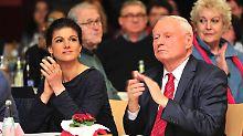 Nicht gerade die begnadeten Mannschaftsspieler: Sahra Wagenknecht und Oskar Lafontaine.