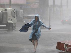 Heftige Regenfälle in Shenzhen.