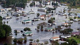 """Südosten der USA im Ausnahmezustand: """"Florence"""" setzt 250.000 Häuser unter Wasser"""