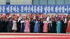 """""""Enthusiastisch heißen wir Präsident Moon Jae In zu seinem Besuch in Pjöngjang willkommen"""", steht auf dem Banner, mit dem Nordkorea den Staatschef des Südens am Flughafen der nordkoreanischen Hauptstadt begrüßt."""