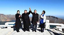 """Kim und Moon am """"heiligen Berg"""": Nordkorea nennt Preis für Atom-Abrüstung"""