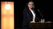 Person der Woche: Nahles hat ihre Kanzlerkandidatur verspielt