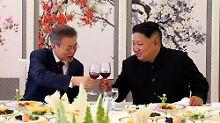 Geste der Freundschaft: Kim schenkt Moon zwei Jagdhunde