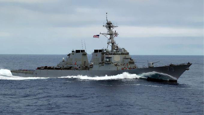 """Die """"USS Decatur"""" ist derzeit im Südchinesischen Meer unterwegs."""
