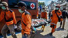 Zahl der Tsunamiopfer steigt: Indonesien beklagt nun mehr als 1200 Tote